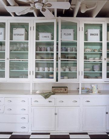 glass door cabinet - Kitchen Lighting