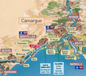 camargue-barge-map